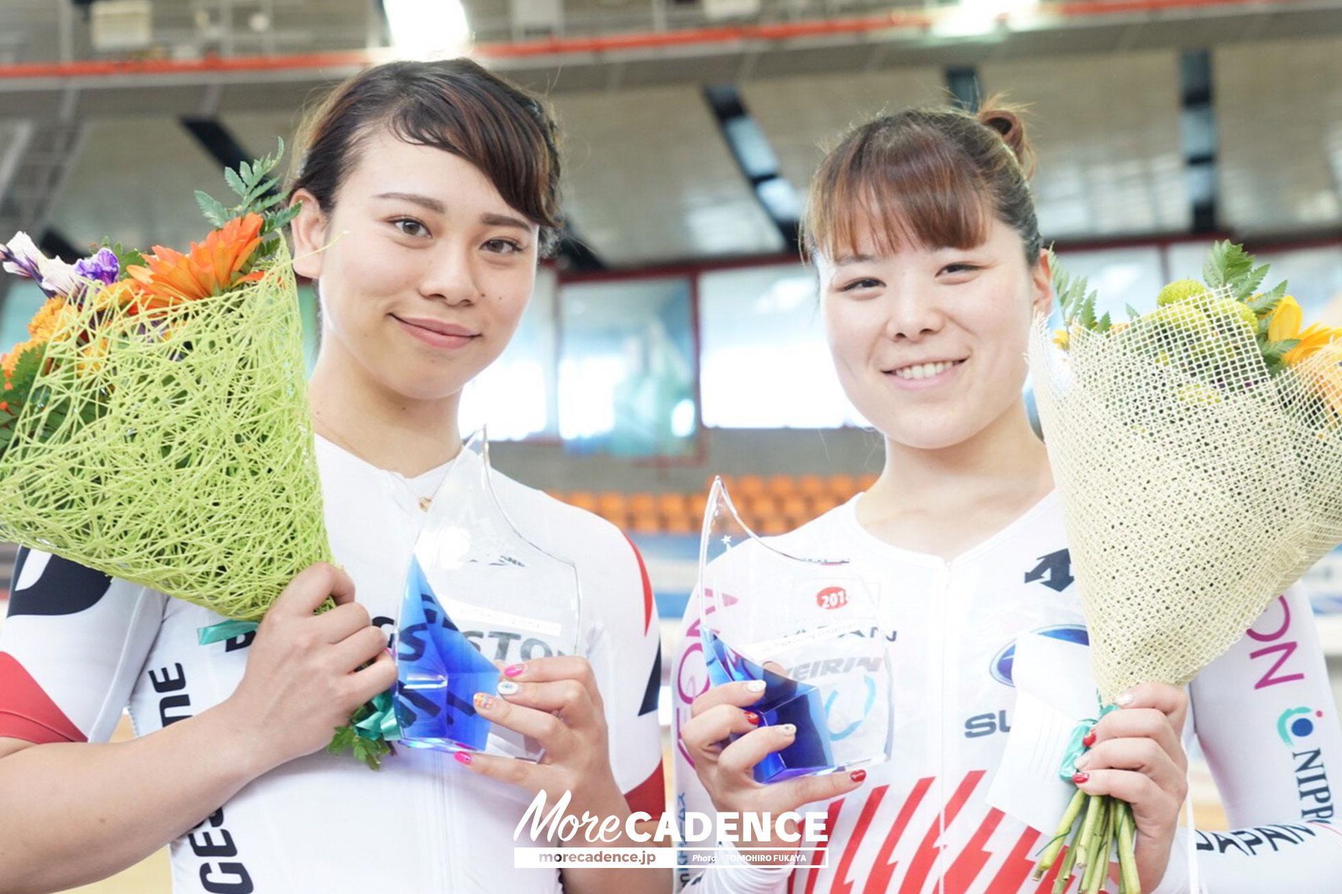 優勝:小林優香、2位:太田りゆ