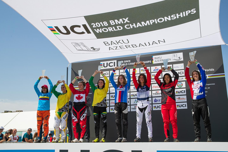 BMX表彰台