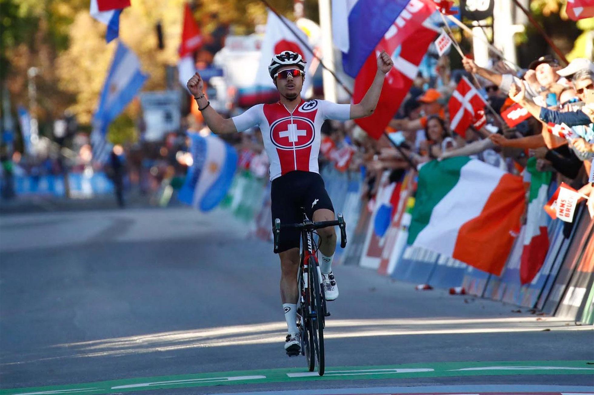 2018ロード世界選手権男子U23ロードレース優勝のHIRSCHI-Marc