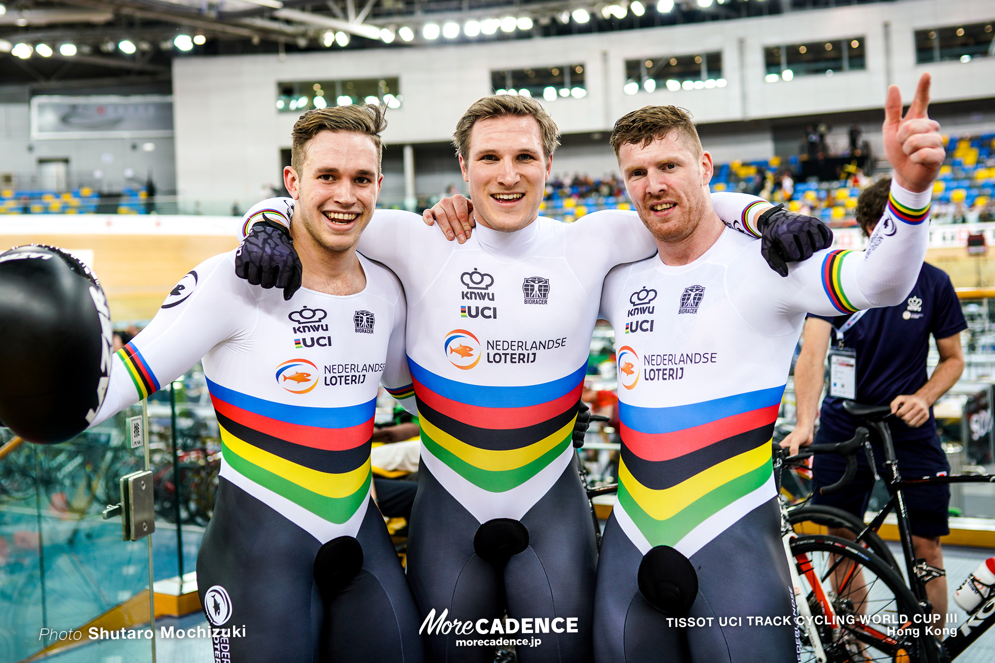 Final / Men's Team Sprint / TISSOT UCI TRACK CYCLING WORLD CUP III, Hong Kong, Jeffrey HOOGLAND ジェフリー・ホーフラント Harrie LAVREYSEN ハリー・ラブレイセン Roy van den BERG ロイ・バンデンバーグ