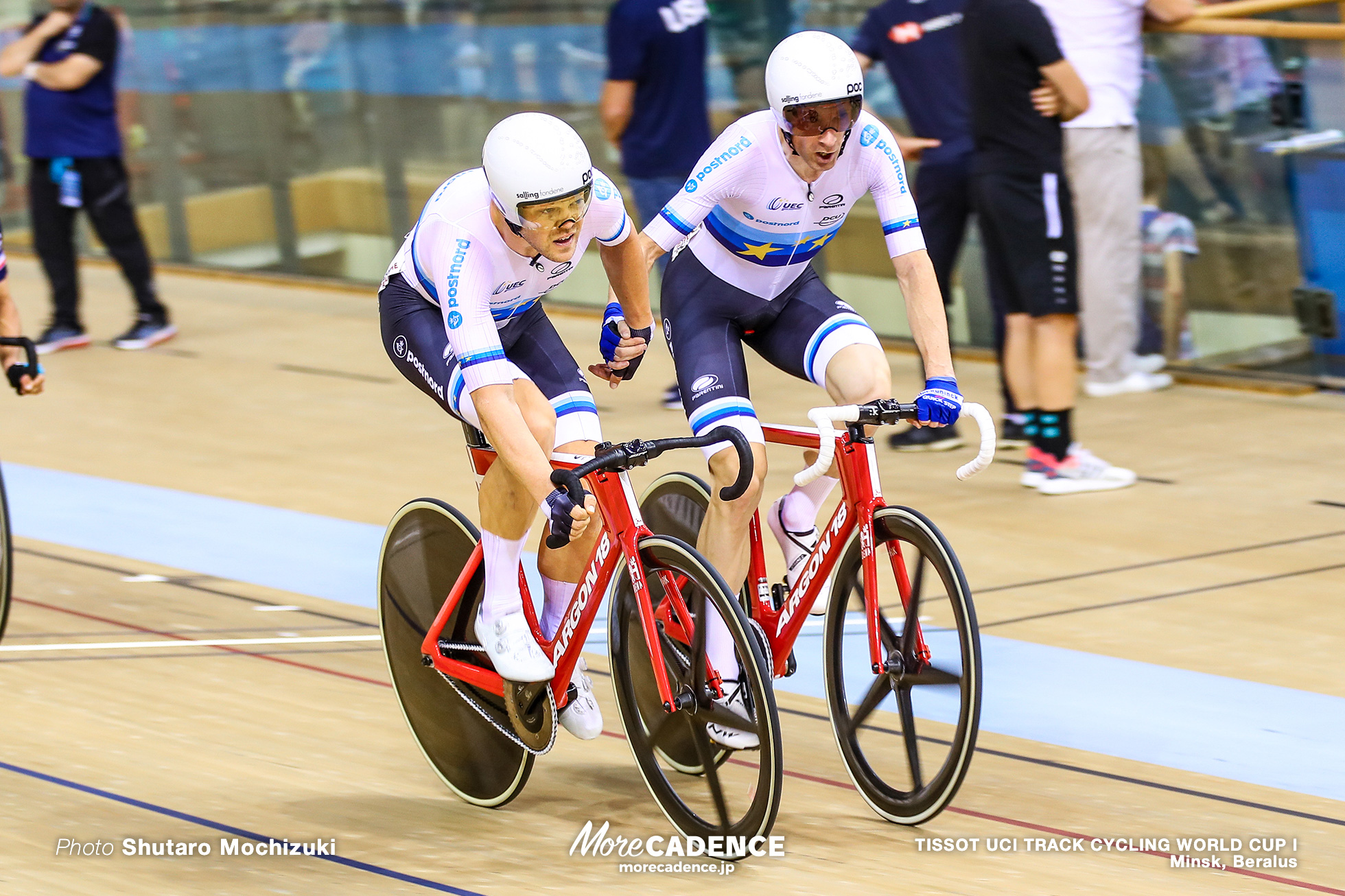 ラッセ・ノーマン・ハンセン HANSEN Lasse Norman ミカエル・モルコフ MORKOV Michael Men's Madison / TISSOT UCI TRACK CYCLING WORLD CUP I, Minsk, Beralus