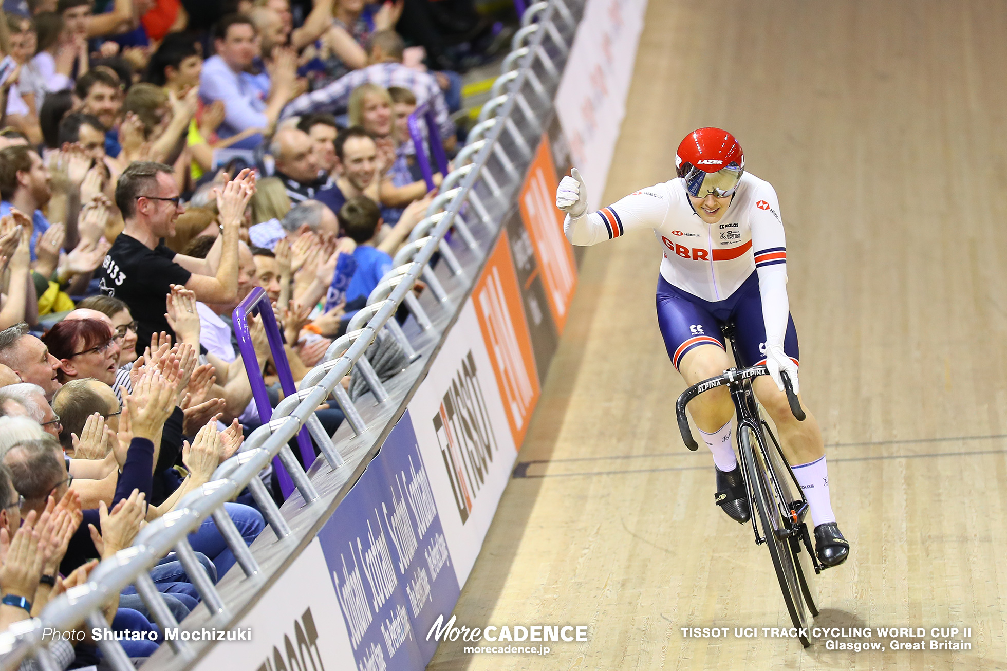 Final / Women's Keirin / TISSOT UCI TRACK CYCLING WORLD CUP II, Glasgow, Great Britain, Katy MARCHANT ケイティー・マーシャン