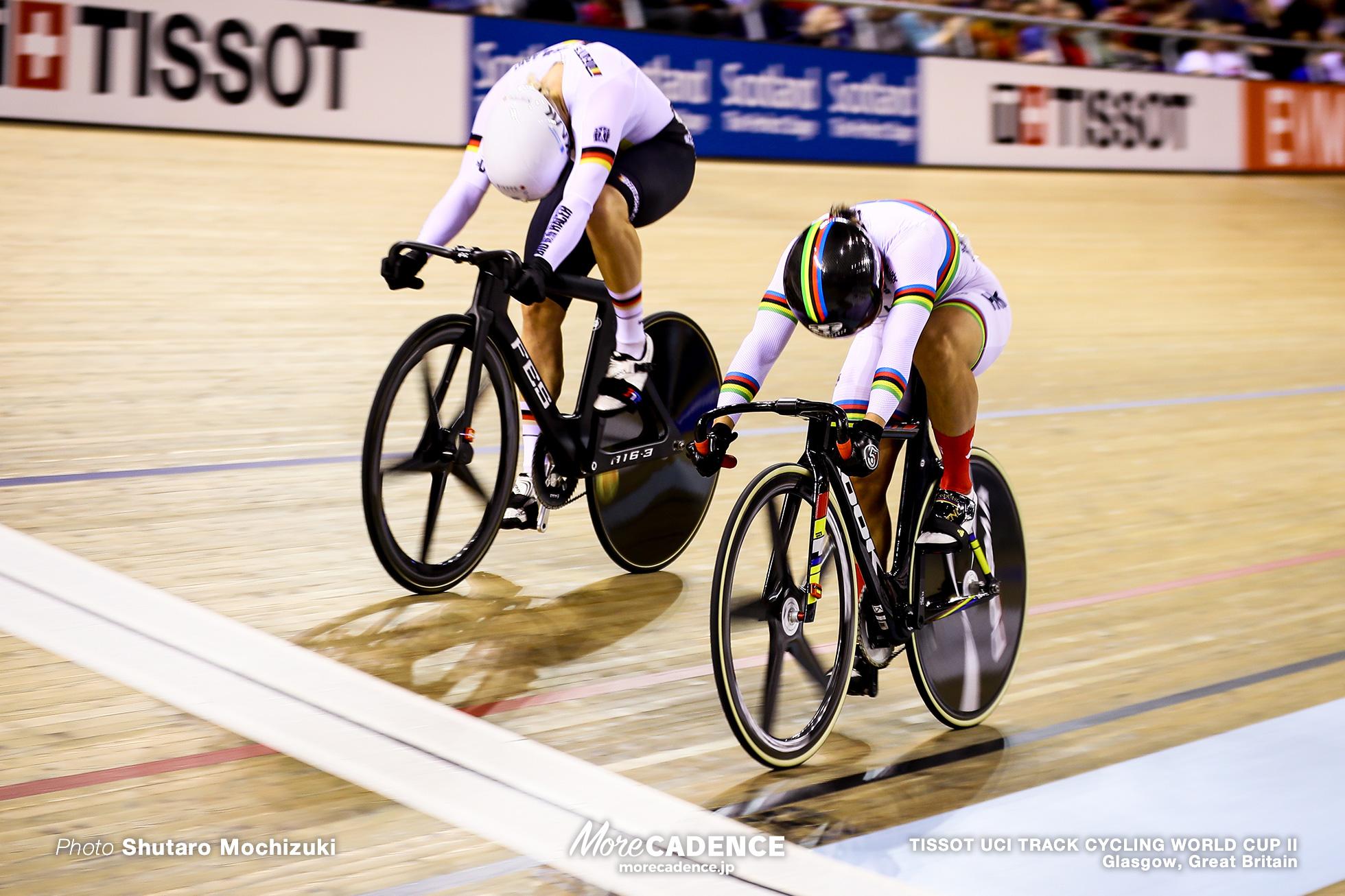 Final / Women's Sprint / TISSOT UCI TRACK CYCLING WORLD CUP II, Glasgow, Great Britain LEE Wai Sze リー・ワイジー 李慧詩, Emma HINZE エマ・ヒンツェ