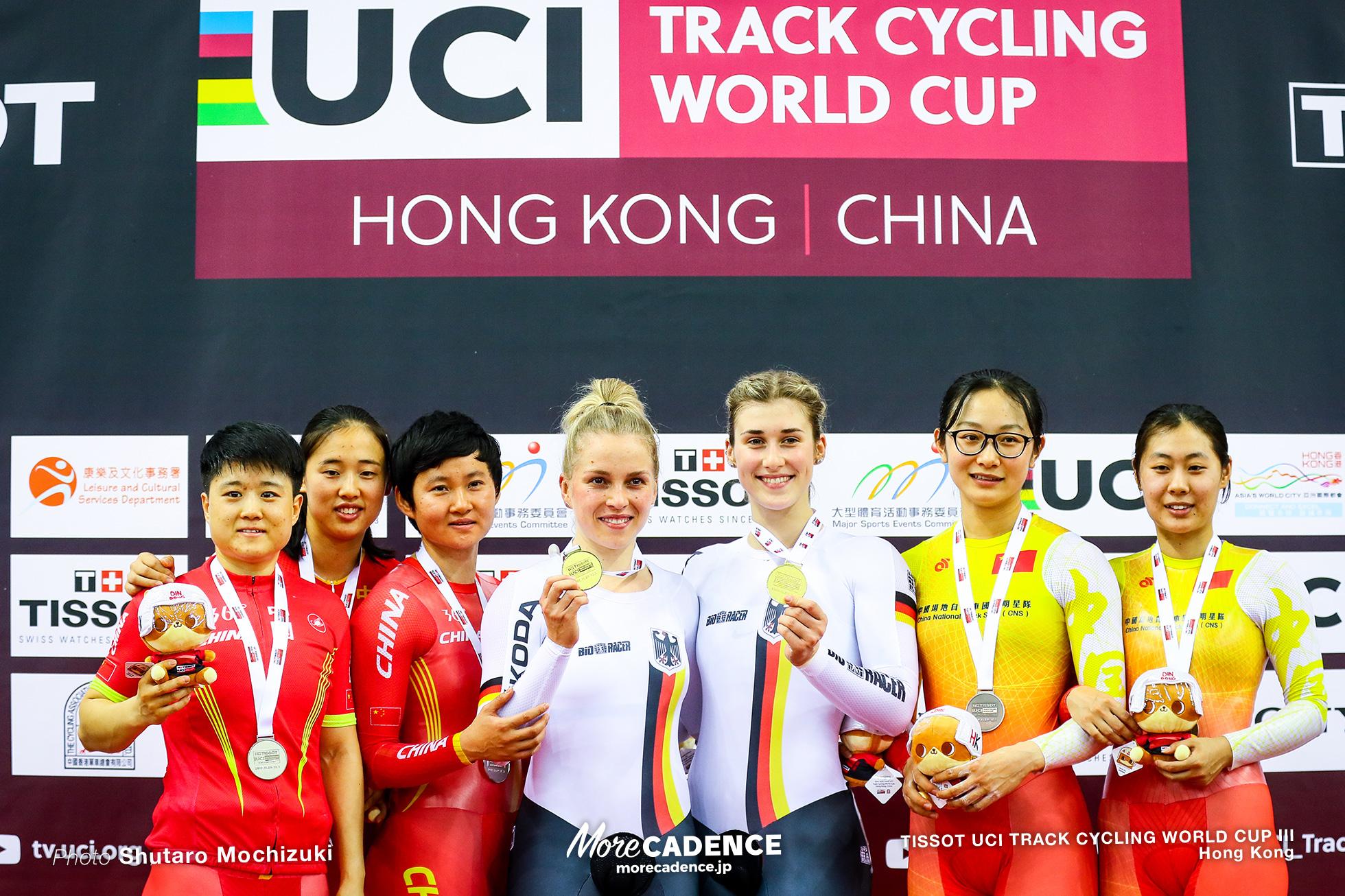 Women's Team Sprint / TISSOT UCI TRACK CYCLING WORLD CUP III, Hong Kong, Pauline Sophie GRABOSCH ポーリン・グラボッシュ Emma HINZE エマ・ヒンツェ LIN Junhong ZHONG Tianshi ZHUANG Wei ZHANG Linyin