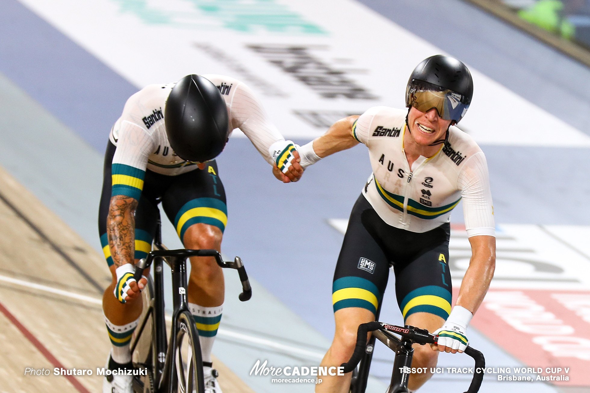 Men's Madison / TISSOT UCI TRACK CYCLING WORLD CUP V, Brisbane, Australia, Sam WELSFORD サム・ウェルスフォード Cameron MEYER キャメロン・マイヤー