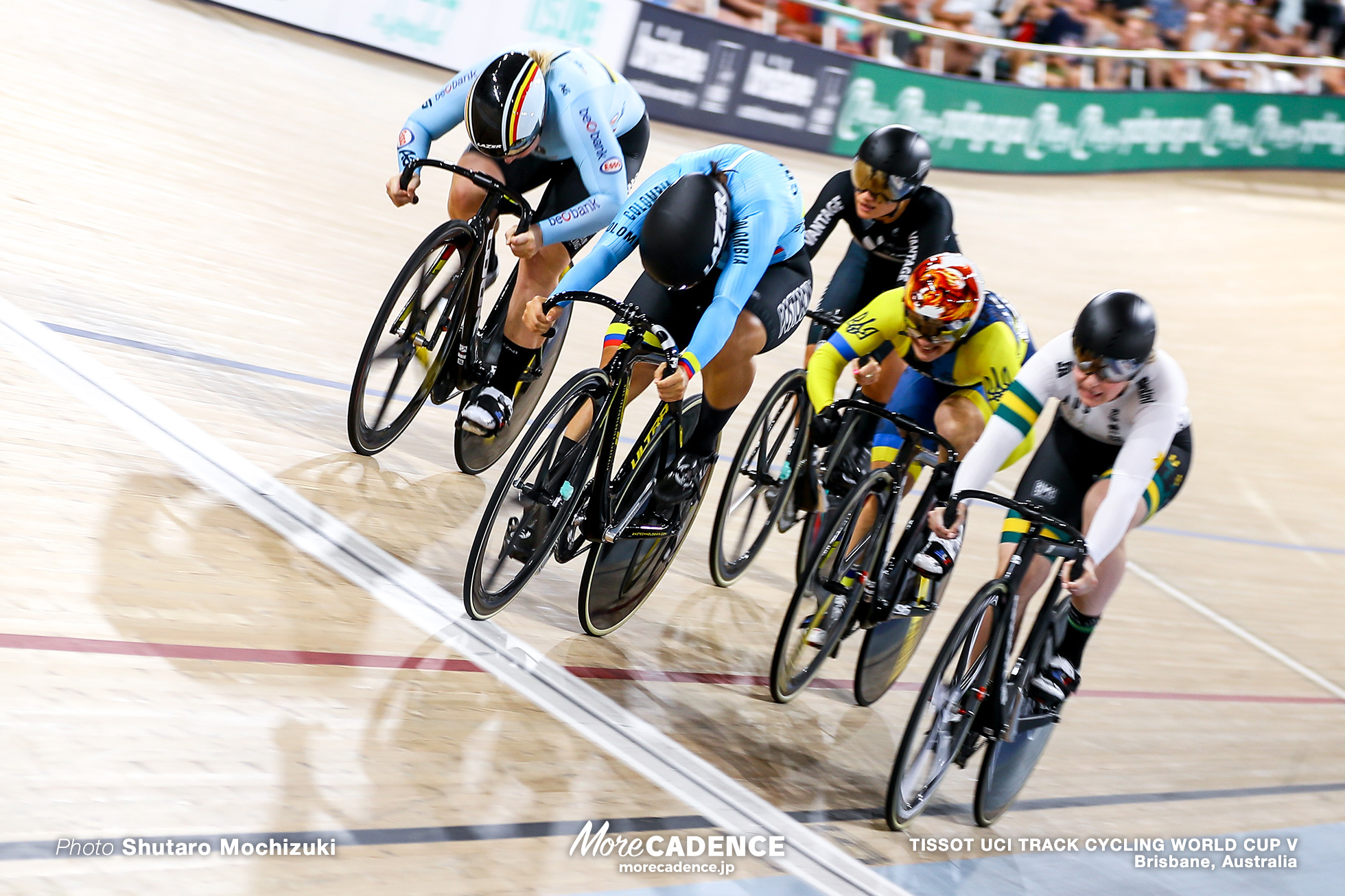 Final / Women's Keirin / TISSOT UCI TRACK CYCLING WORLD CUP V, Brisbane, Australia, Stephanie MORTON ステファニー・モートン Martha BAYONA PINEDA マーサ・バヨナ Nicky DEGRENDELE ニッキー・デグレンデレ Natasha HANSEN ナターシャ・ハンセン Nikola SIBIAK ニコラ・シビアック