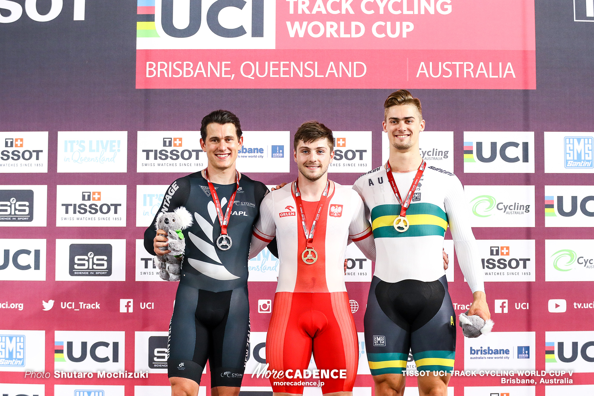 Final / Men's Sprint / TISSOT UCI TRACK CYCLING WORLD CUP V, Brisbane, Australia, Mateusz RUDYK マテウス・ルディク Sam WEBSTER サム・ウェブスター Matthew GLAETZER マシュー・グレーツァー