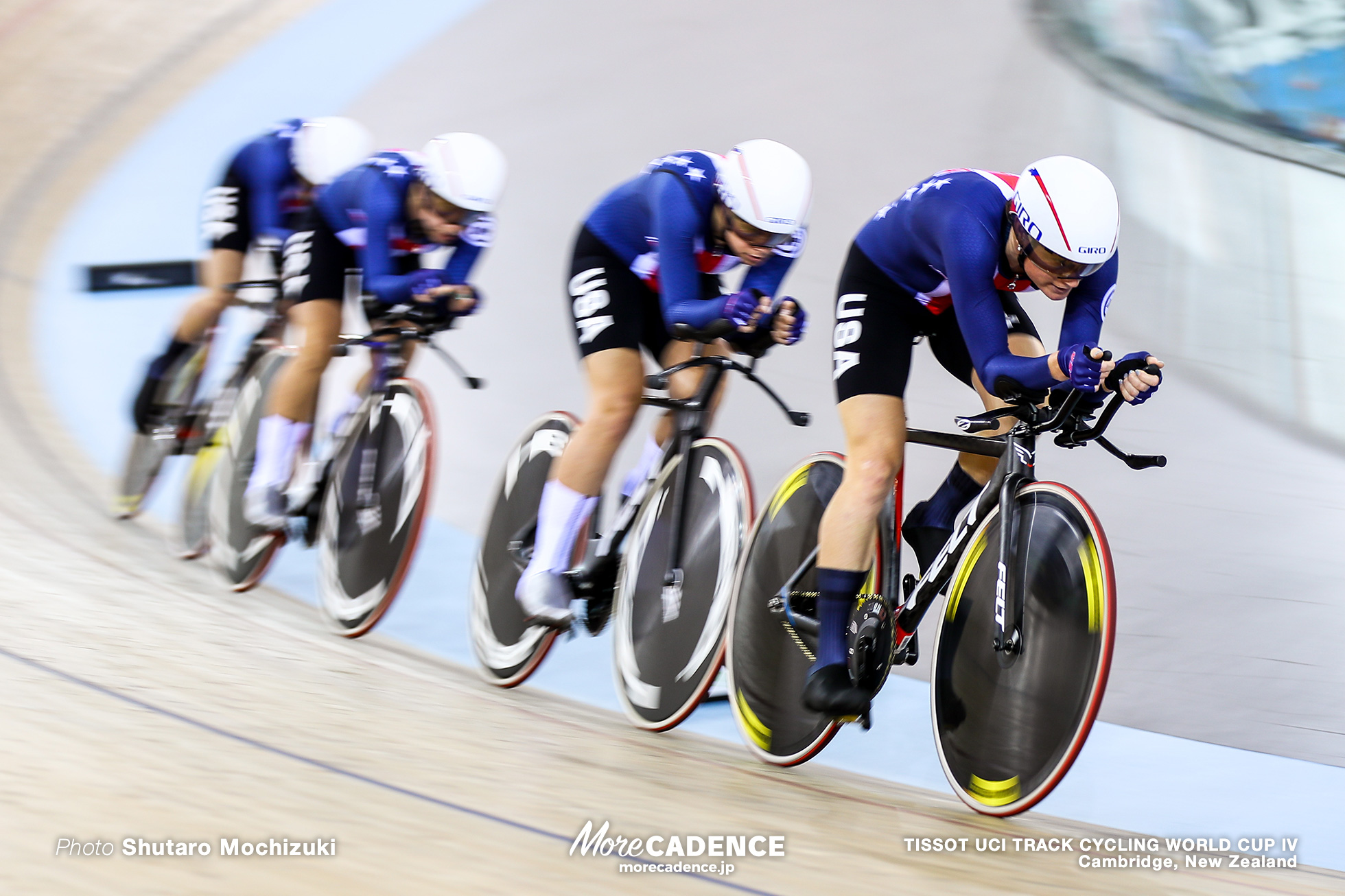 1st Round / Women's Team Pursuit / TISSOT UCI TRACK CYCLING WORLD CUP IV, Cambridge, New Zealand, Christina BIRCH クリスティーナ・バーチ Jennifer VALENTE ジェニファー・バレンテ Emma WHITE エマ・ホワイト Lily WILLIAMS リリー・ウィリアムズ