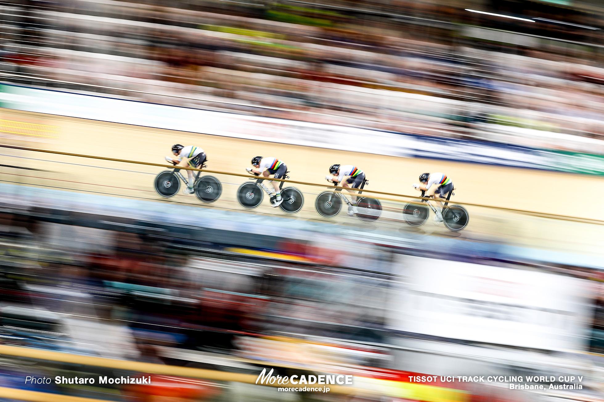 Final / Women's Team Pursuit / TISSOT UCI TRACK CYCLING WORLD CUP V, Brisbane, Australia, Georgia BAKER ジョージア・バーカー Annette EDMONDSON アネット・エドモンソン Ashlee ANKUDINOFF アシュリー・アンクディノフ Maeve PLOUFFE メーブ・プルーフ