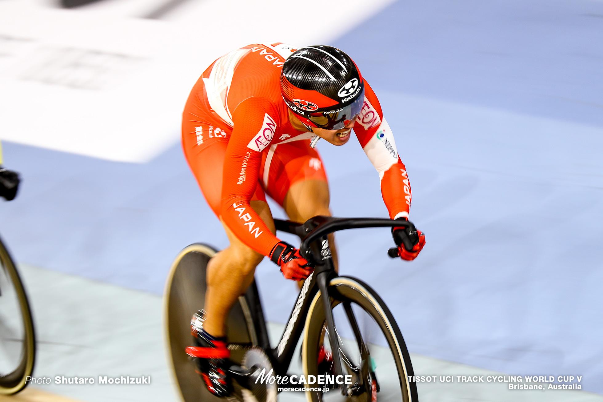Final / Men's Keirin / TISSOT UCI TRACK CYCLING WORLD CUP V, Brisbane, Australia, 脇本雄太