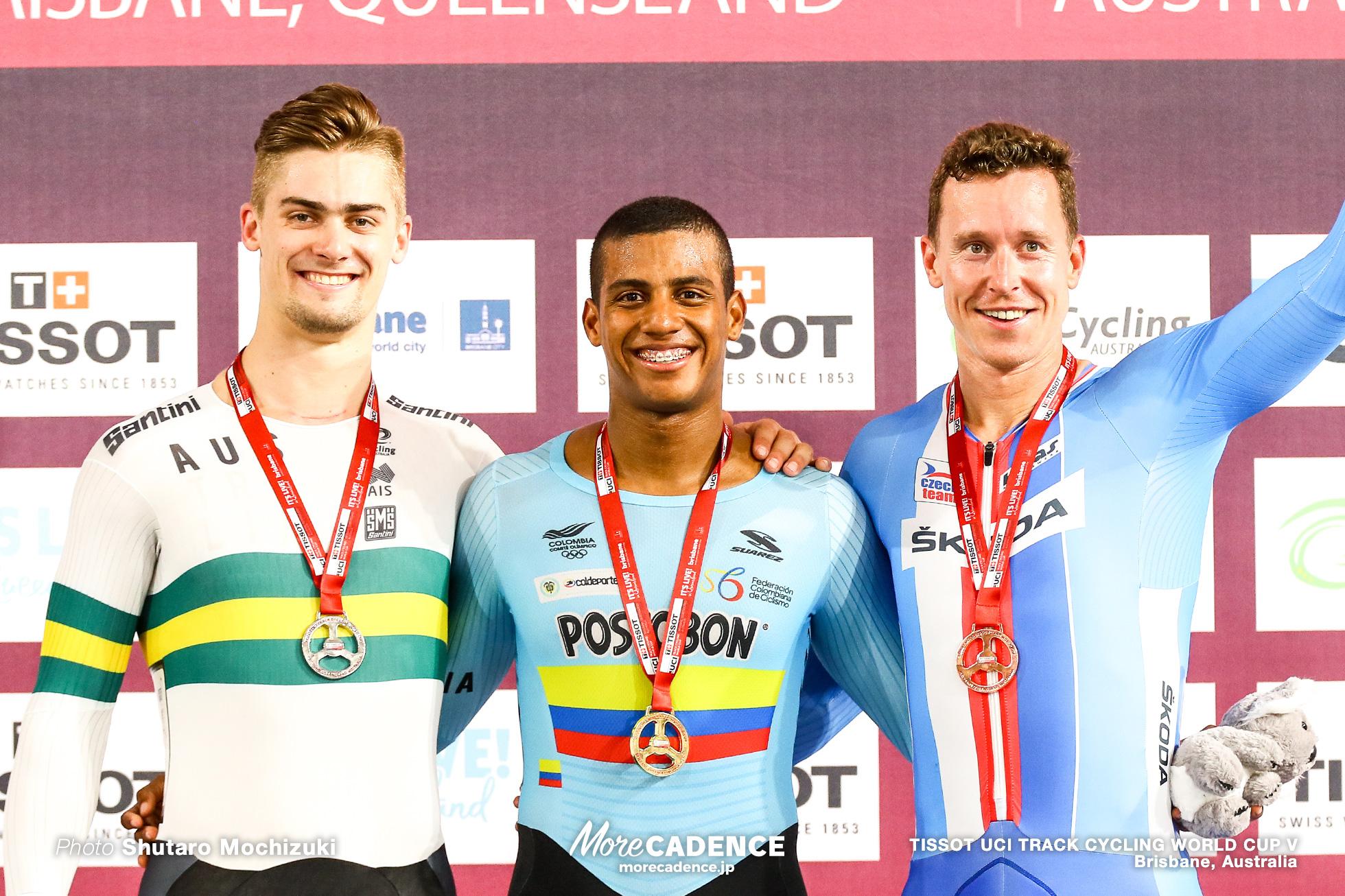 Final / Men's Keirin / TISSOT UCI TRACK CYCLING WORLD CUP V, Brisbane, Australia, Kevin Santiago QUINTERO CHAVARRO ケビン・キンテロ Matthew GLAETZER マシュー・グレーツァー Tomas BABEK トマシュ・バベク