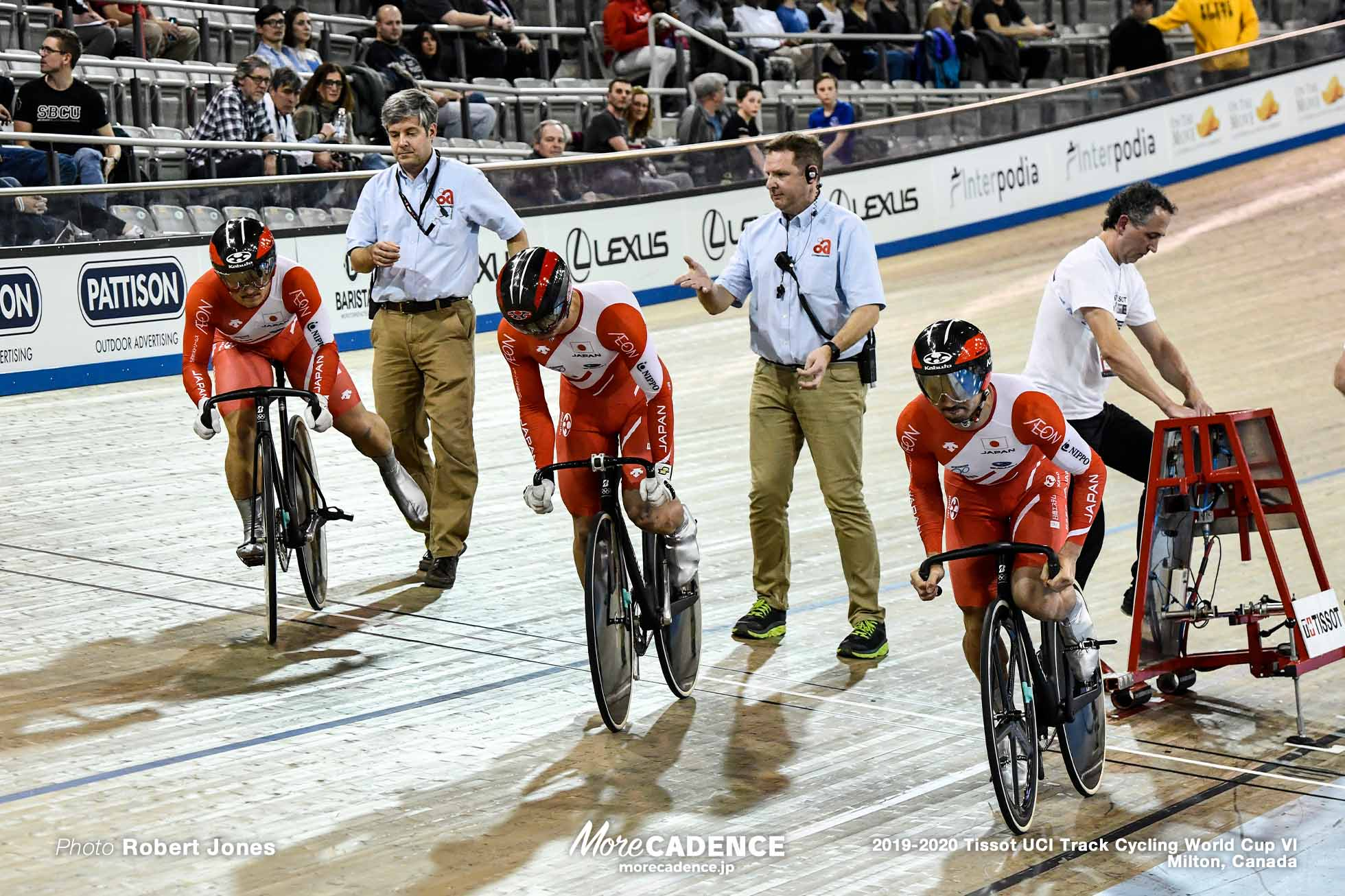Men's Team Sprint / TISSOT UCI TRACK CYCLING WORLD CUP VI, Milton, Canada, 雨谷一樹, 小原佑太, 松井宏佑